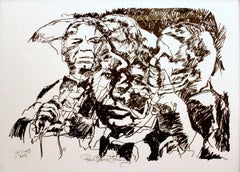 Paul Blaine Henrie (American 1932 - 1999); Franc Sinatra and the group on the co