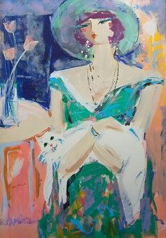 George Hamilton (American 1934); The Stray; acrylic on artboard
