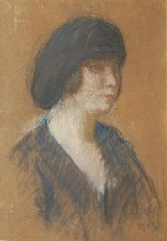 Louis Kronberg (American 1872 - 1965); Portrait; pastel on paper