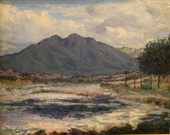 Percy Gray (1869 - 1952); Mount Tamalpais; oil on wood