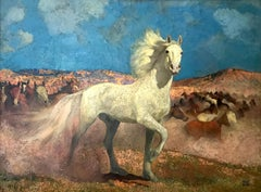signed illegible; The Horse; oil on canvas;