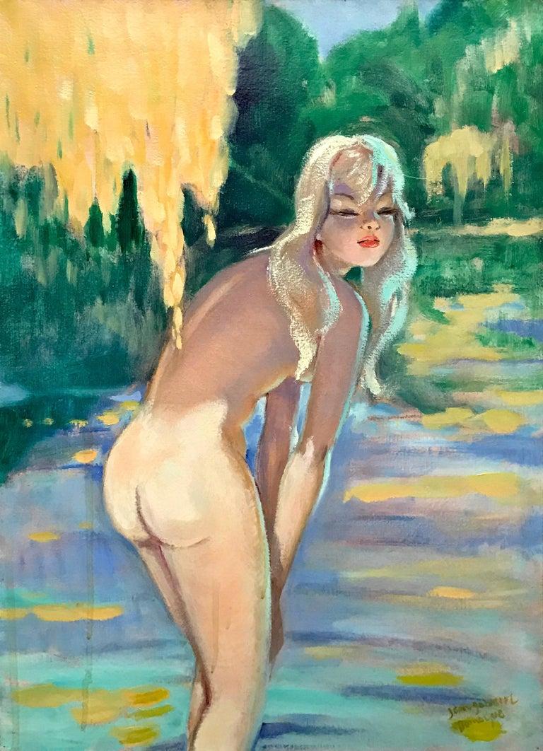Jean-Gabriel Domergue (French 1889 - 1962);  Nicole; Oil on canvas - Painting by Jean-Gabriel Domergue