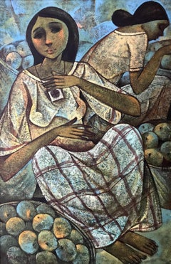 Roger San Miguel (Philipino 1940); Two women; oil on canvas