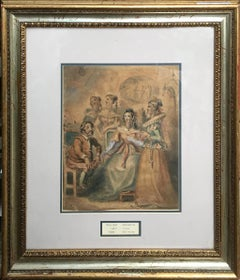 Hogarth William (British 1697-1764); Don Quixote; watercolor on paper;