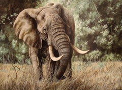 Jim Gregory (American 20th c); Elephant; giclée print on canvas