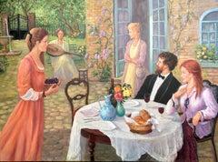 The Recital; Monique Baudaux; Late 20th; oil on canvas;