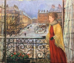View From the Balcony; Monique Baudaux; Late 20th; oil on canvas;