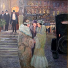 The Three Sisters; Monique Baudaux; Late 20th; oil on canvas;