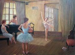 Ballet; Monique Baudaux; Late 20th; oil on canvas;