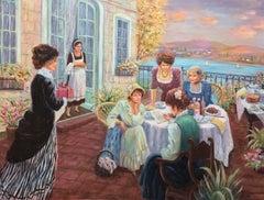 The love letter; Monique Baudaux; Late 20th; oil on canvas;