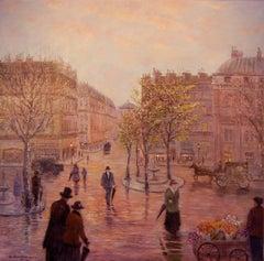 The Town; Monique Baudaux; Late 20th; oil on canvas;