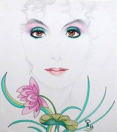 Cher; Kluchik Steven; Hungarian born 1946; mixed media on paper;