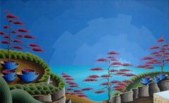 Dreamscape; Kluchik Steven; Hungarian born 1946; oil on canvas;