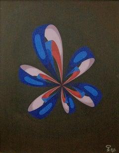 Cosmic Flower; Kluchik Steven; Hungarian born 1946; oil on board;