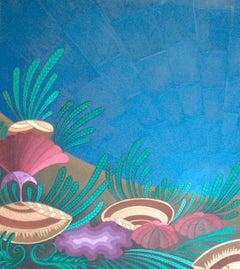 Seashells; Kluchik Steven; Hungarian born 1946; oil on canvas;