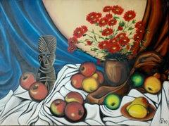 Dios del Amor; Kluchik Steven; Hungarian born 1946; oil on canvas;