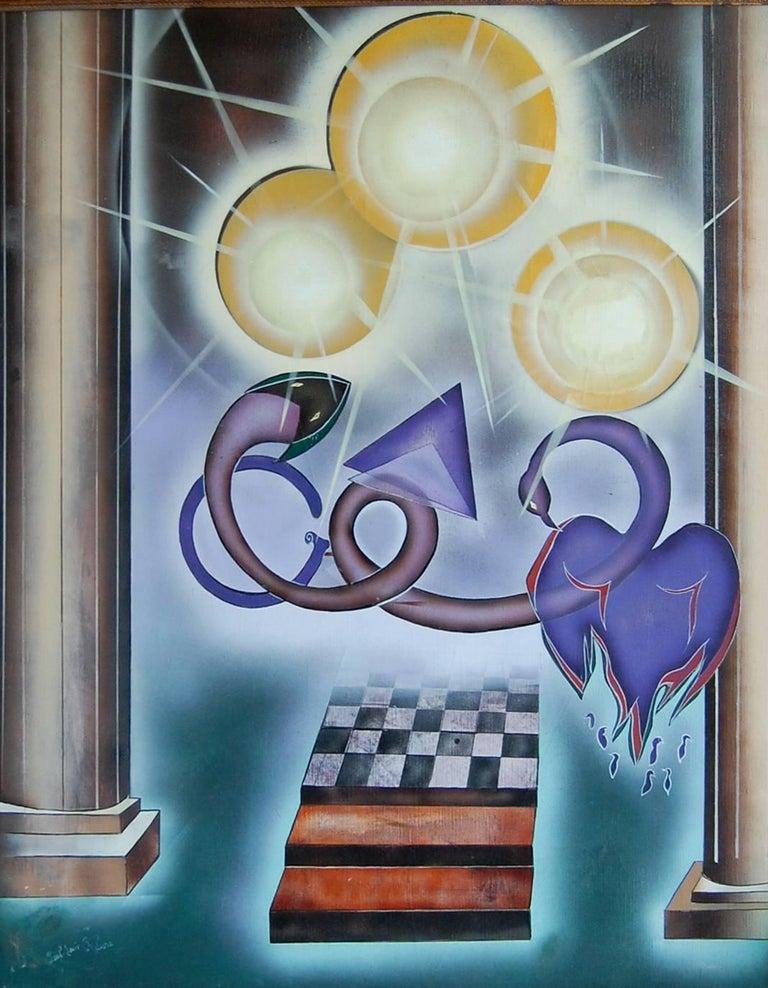 Bal de la Tentation; Paul - Louis Rebora; French 20th c; oil on canvas
