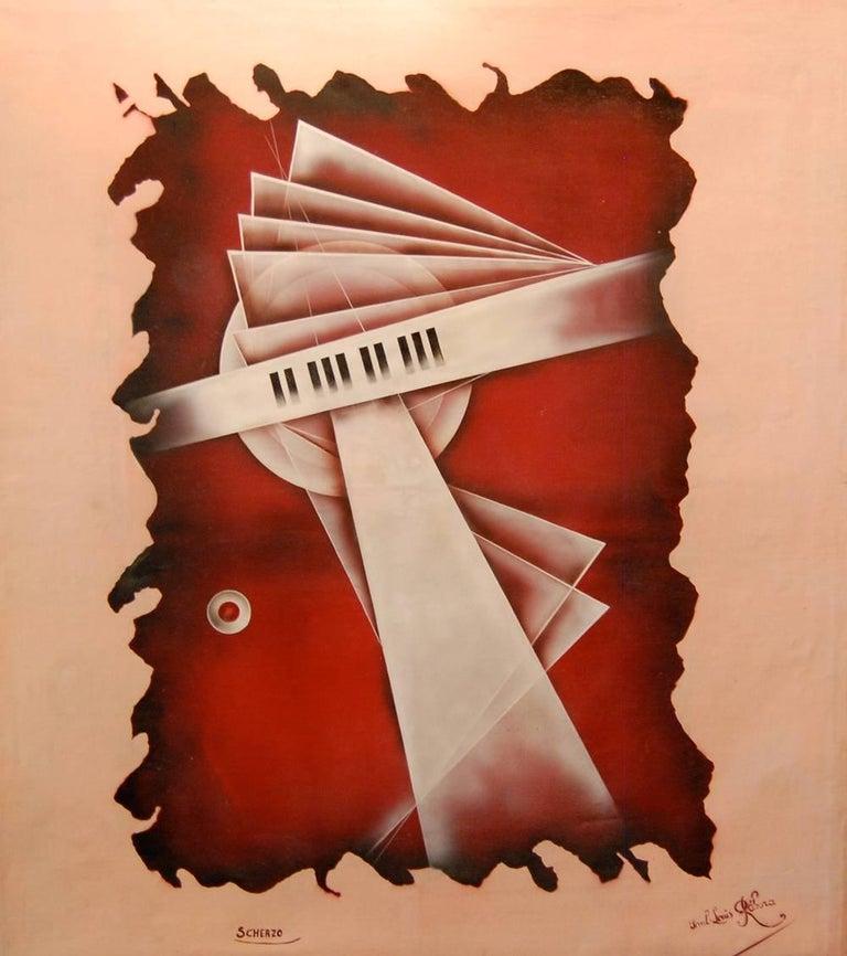 Scherzo; Paul - Louis Rebora; French 20th c; oil on canvas
