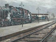 Maquina de Tren; Daroca Rafael; Spanish 1927; oil on canvas