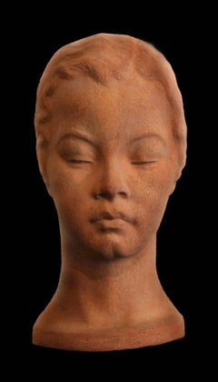 Head of a Woman II; Bernhard D. Sopher (American-German 1879 - 1949); terracotta