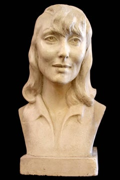 Bust of Luise Rainer; Bernhard Sopher (American-German 1879 - 1949); earthenware