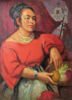 Lolita; Venetia Epler (American 1926 - 2005); oil on canvas