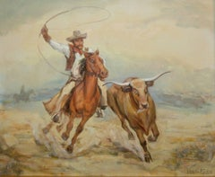 Ride `Em Cowboy; Venetia Epler (American 1926 - 2005); oil on canvas