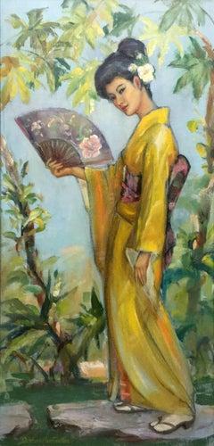 Ayaka - Early Californian portrait; Daphne Huntington; 1910-2012; oil on board