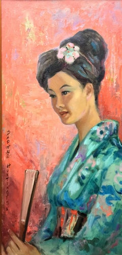 Japanese Woman in Blue; Daphne Huntington; 1910-2012; oil on canvas board