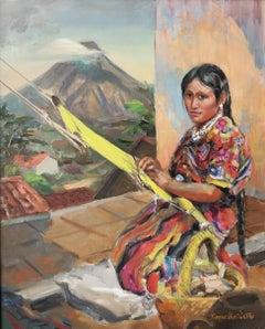 Working woman; Daphne Huntington (American 1910 - 2012); oil on linen