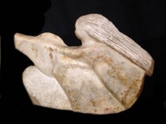 Woman on a Horse; Marcus Lyons (American 1949); alabaster