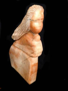 Mother and Child; Marcus Lyons (American 1949); alabaster