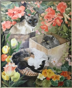 Phyllis Londraville (American 1920 - 2002); Our Cats; watercolor