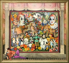 Phyllis Londraville (American 1920 - 2002); Send in The Clowns; acrylic on board