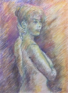 Harry LeMay (American 20th c); Nude Woman; pastel