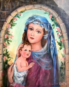 Madonna and Child; Venetia Epler (American 1926 - 2005); oil on canvas;