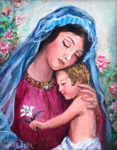 Madonna and Child II; Venetia Epler (American 1926 - 2005); oil on canvas;