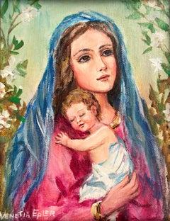 Madonna and Child III; Venetia Epler (American 1926 - 2005); oil on canvas;