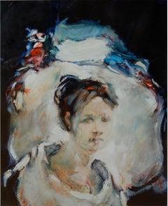 Allyn Amundson (American 1934 - 1975); Portrait; oil on paper