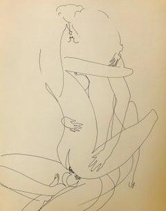 John Boyce (American 1938); Erotic drawing 6; ink on paper;