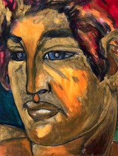John Boyce (American 1938); Portrait 3; watercolor on paper board