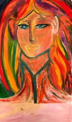 John Boyce (American 1938); Portrait 8; oil on canvas; no frame