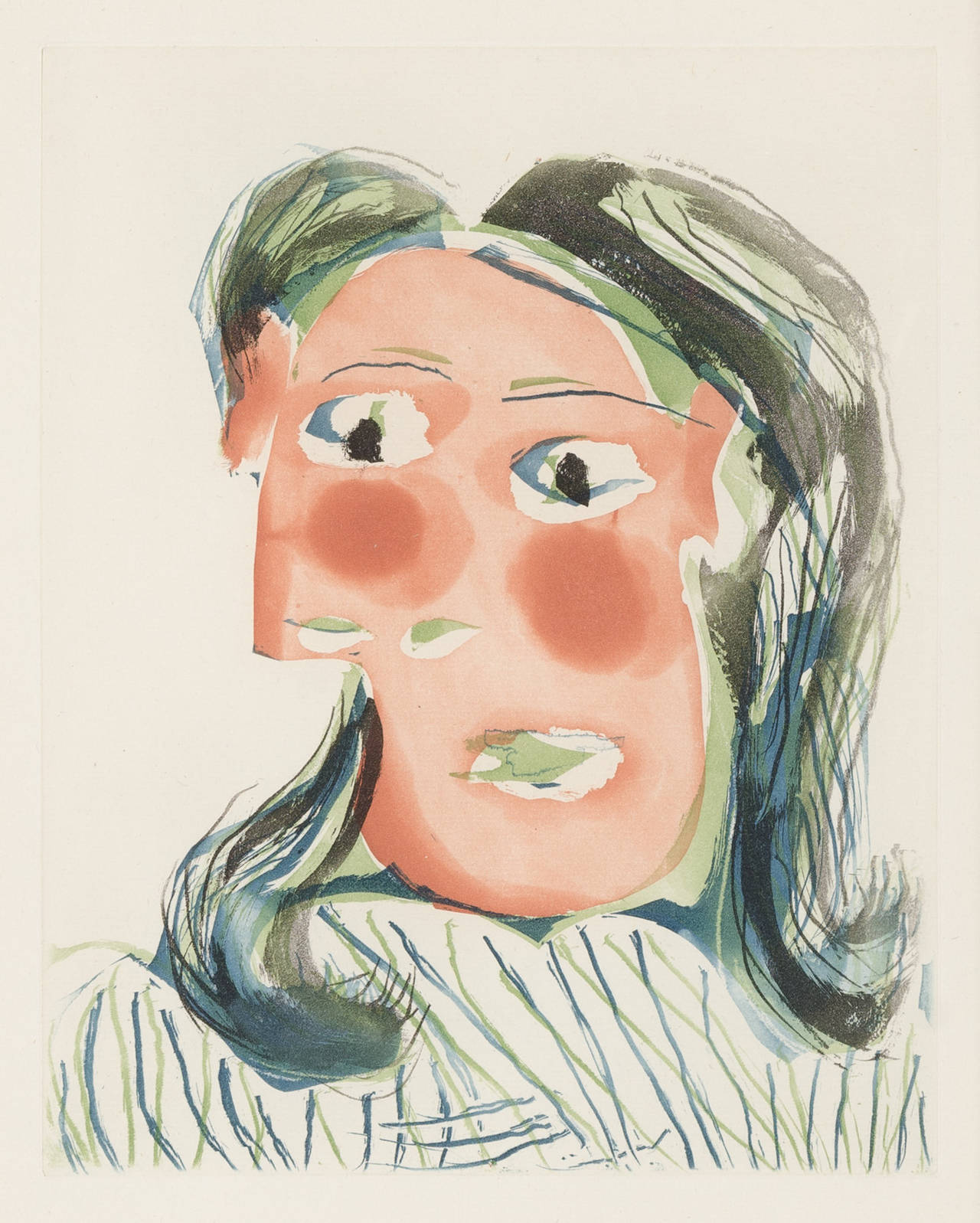 Pablo Picasso - TÊTE DE FEMME NO. 6. PORTRAIT DE DORA MAAR, Print at ...