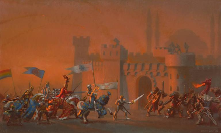 Conor Walton Figurative Painting - The Crusaders Entering Constantinople