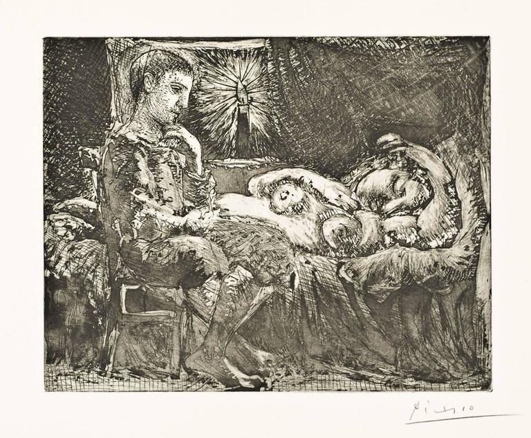 Pablo Picasso - Garcon Et Dormeuse A La Chandelle, Print -5309