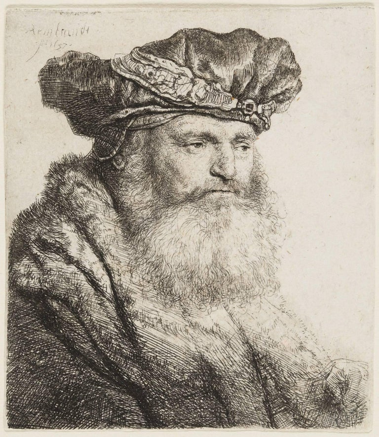 Bearded Man, Wearing a Velvet Cap, with a Jewel Clasp