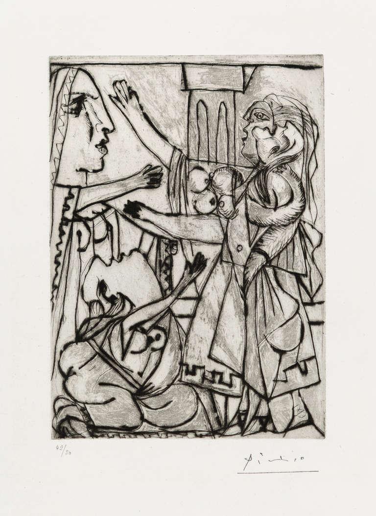Pablo Picasso Figurative Print - LE SERMENT DE FEMMES. I (The Oath of Women. I)