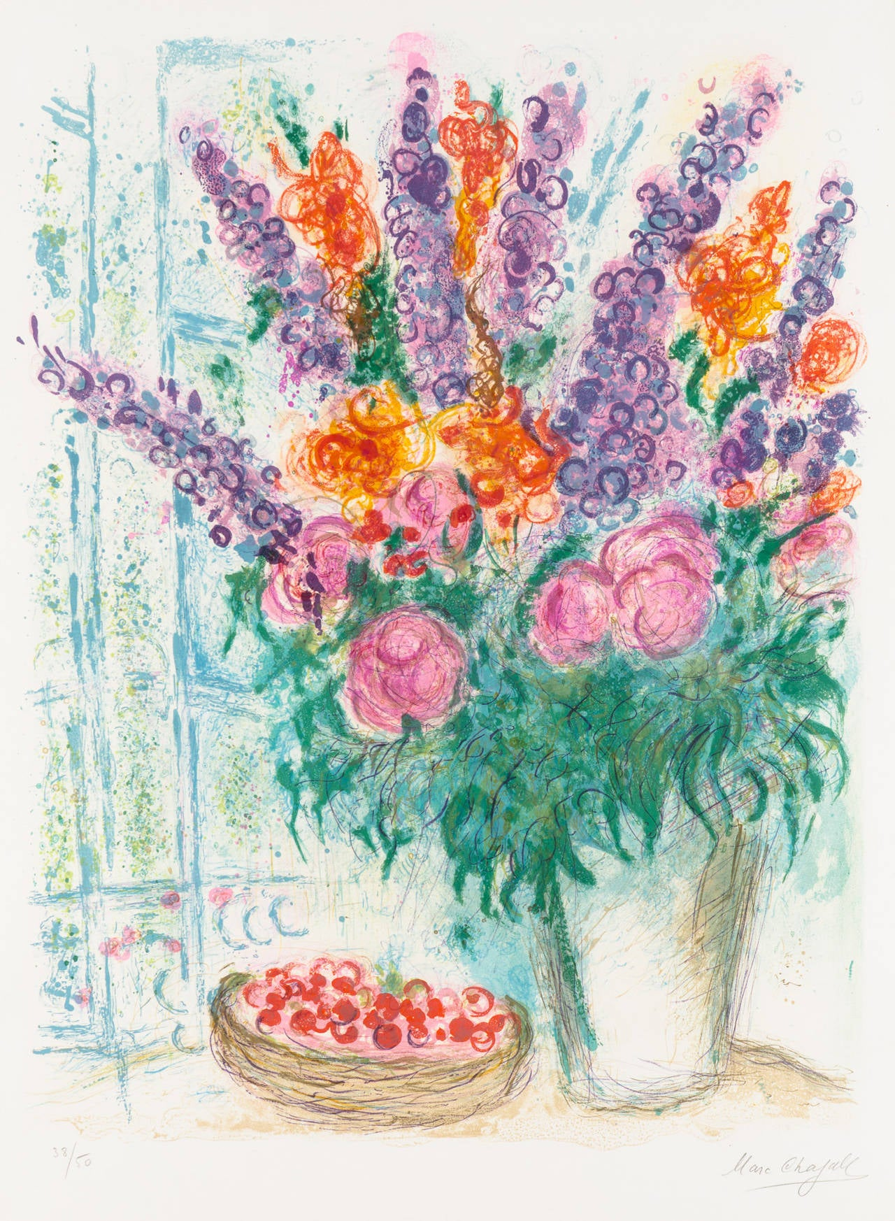 Marc Chagall Still-Life Print - The Large Bouquet