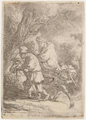 The Flight Into Egypt, Small Plate