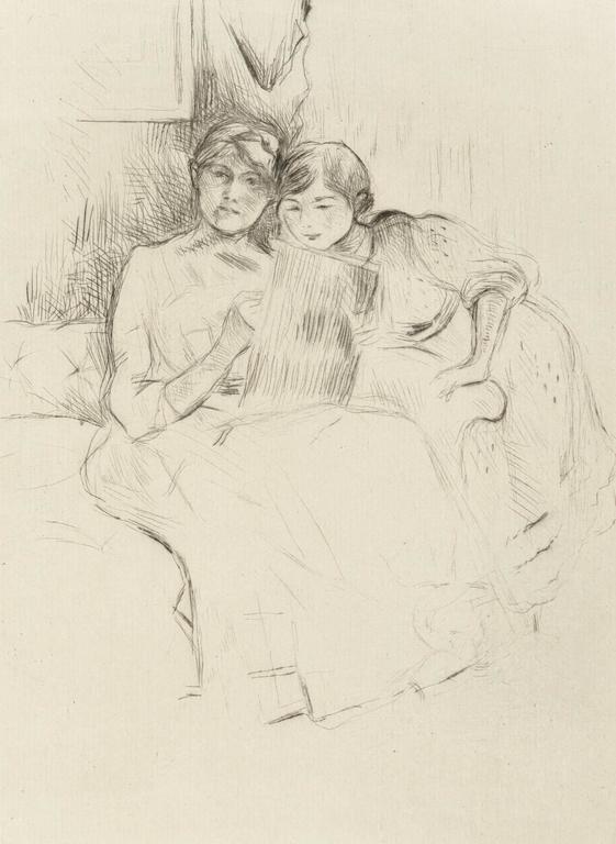 LA LEÇON DE DESSIN (Berthe Morisot and her Daughter, Julie Manet)